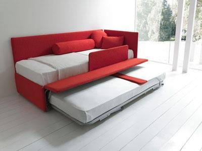 Line by bolzan divano letto con secondo letto estraibile letto contenitore - Letto con secondo letto estraibile ...